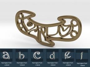Personalised Harrington Font Love Bracelet in Polished Bronze