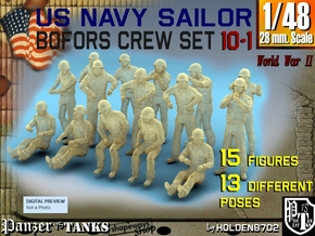 1-48 US Navy Bofors Oki Set 10-1 in Smooth Fine Detail Plastic