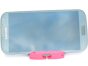 Unbreakable Heart  - Phone Stand and Headphone Wra in Pink Processed Versatile Plastic