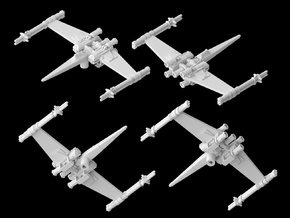 "Cantwell's Prototype X-Wing""S-Foils Closed""(1/270) in White Strong & Flexible"
