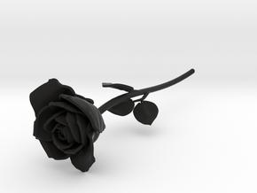 ROSE in Black Natural Versatile Plastic