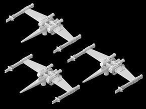 "3x Cantwell's Prototype X-Wing ""Closed"" (1/270) in White Strong & Flexible"
