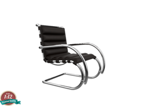 Miniature MR Lounge Chair - Ludwig Van Der Rohe in White Natural Versatile Plastic