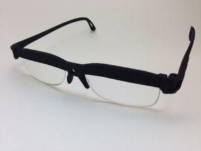 Cheater Prescription or Reading Glasses in Black Natural Versatile Plastic