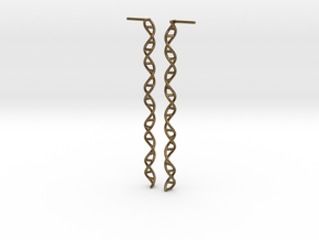 "Double Helix 73 mm (2.9"") Earrings in Natural Bronze"