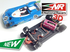 3D Chassis - SCR Matra 670 (AW/SW) in Black Strong & Flexible