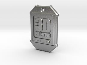 Dogtag 3D-Printing in Natural Silver