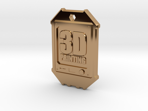 Dogtag 3D-Printing in Polished Brass