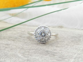 Bouquet Engagement Ring in 14k White Gold