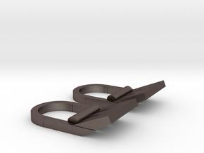 FO TIE Sidetabs in Polished Bronzed Silver Steel