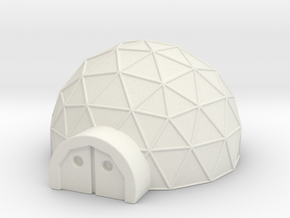 Small Geo Dome in White Strong & Flexible