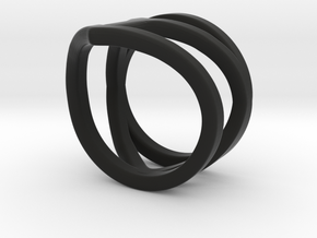 Midi Ring Of Affection in Black Natural Versatile Plastic: 3 / 44