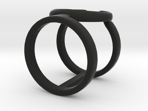 Occult Ring in Black Natural Versatile Plastic: 6 / 51.5