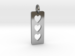 Triple heart Pendant - Cutout Collection in Premium Silver