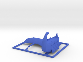 Galley Ship and Mast in Blue Processed Versatile Plastic