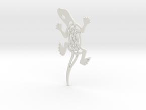 Celtic Lizard Pendant in White Natural Versatile Plastic