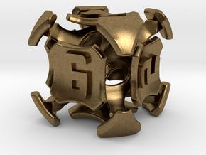 Quantum Dice D6  in Natural Bronze