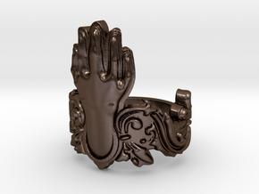 Manus Ring in Polished Bronze Steel: 8 / 56.75