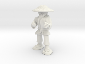 Dwarven Monk  in White Natural Versatile Plastic: 1:30