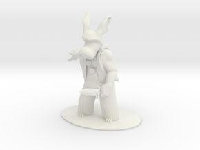 Cerebus the Aardvark Miniature in White Natural Versatile Plastic: 1:55