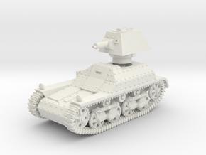 Vickers Light Mk.I (1:87 HO scale) in White Natural Versatile Plastic