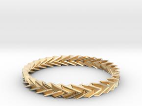 Bracelet Miura - Origami Inspired Design in 14k Gold Plated Brass