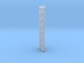 N Scale Stairs 8 (7 pc) in Smooth Fine Detail Plastic