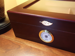 Humidor Leaf in Polished Brass