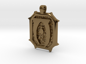Daedric Letter 'O' Pendant in Polished Bronze