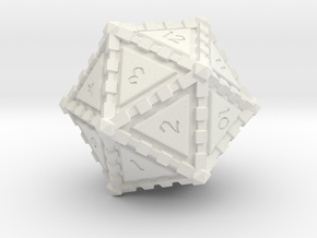 D20 Edged in White Strong & Flexible