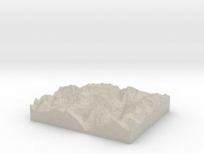 Model of Corni di Nefelgiù in Sandstone