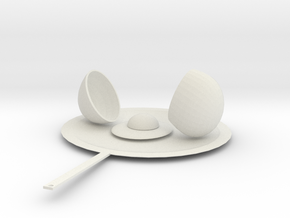 Egg in a skillet in White Natural Versatile Plastic