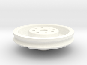 Complete Eye Plate Mold 28mm Scale in White Strong & Flexible Polished