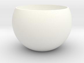 1 Inner Eye Core 26mm in White Processed Versatile Plastic