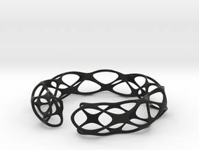 Bracelet voronoi in Black Natural Versatile Plastic