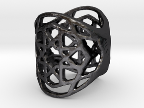 Ringpattern6 in Polished and Bronzed Black Steel