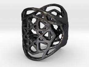 Ringpattern6 in Polished Grey Steel