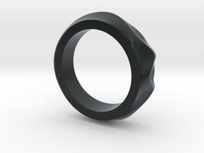 Dune ring in Black Hi-Def Acrylate