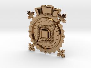 Hat Jewel Notke in Polished Brass