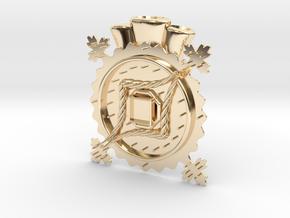 Hat Jewel Notke in 14k Gold Plated Brass