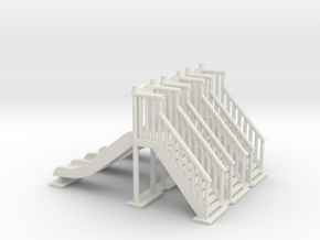 Playground slide 01. HO Scale (1:87) in White Natural Versatile Plastic