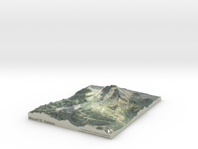 "Mount St. Helens Map: 8.5""x11"" in Coated Full Color Sandstone"