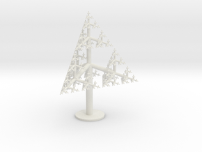 Sierpinski Tree 85mm in White Strong & Flexible