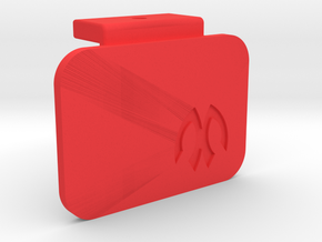 Symmetric M05 Battery Mount Cap in Red Strong & Flexible Polished