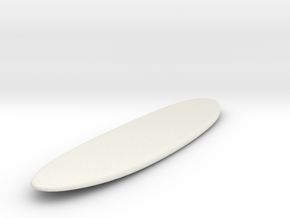 Surfing Longboard Surfboard 1:24 Scale in White Natural Versatile Plastic