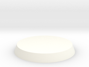 Circular Base in White Strong & Flexible Polished