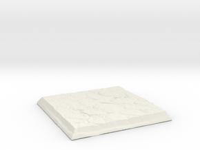 Square Stone Base in White Natural Versatile Plastic