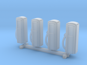 N Scale '50s Gas Pumps 4pc in Frosted Ultra Detail