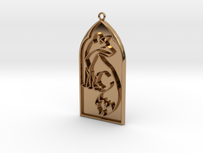 Pendant Reynard in Polished Brass