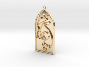 Pendant Reynard in 14k Gold Plated Brass